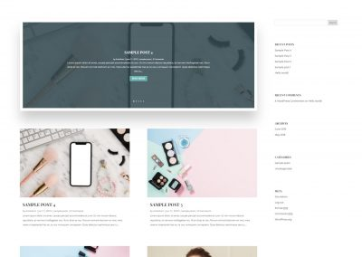 simple blog website